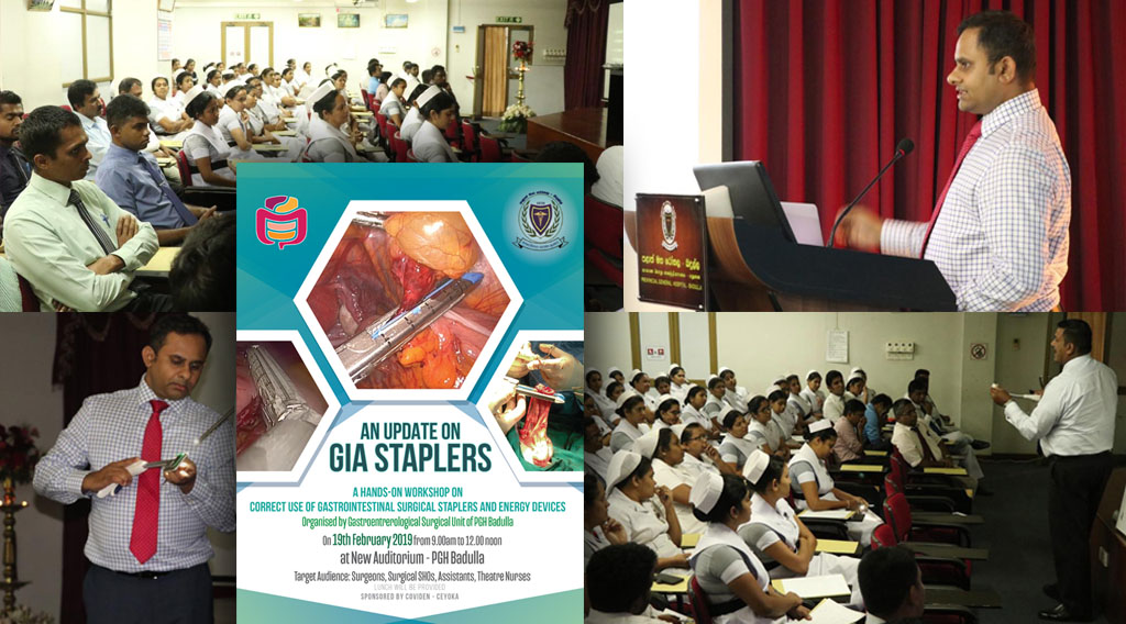 Workshop on GIA Staplers at PGH Badulla
